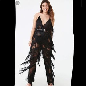 Lace Fringe Jumpsuit X Blazing Trails Collection